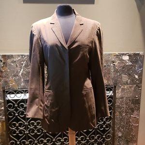 Brown pants suit